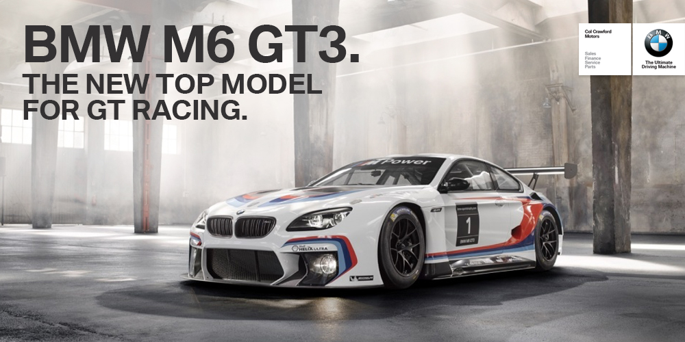 The First BMW M6 GT3 has arrived iat Col Crawford BMW dealer Sydney.