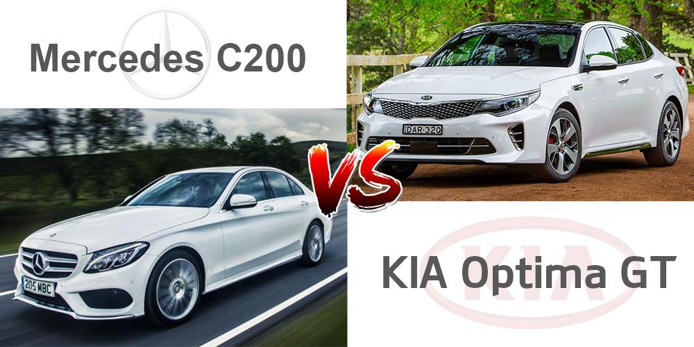 Best In Class Kia Optima Gt V S Mercedes C200 The