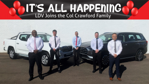 """""""It's All Happening"""" LDV joins the Col Crawford Family"""